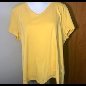 St. John's Bay yellow t-shirt